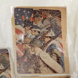 Boxed PAR Lithographed Wood Patriotic Jigsaw Puzzle