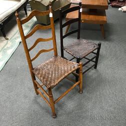 Two Slat-back Side Chairs