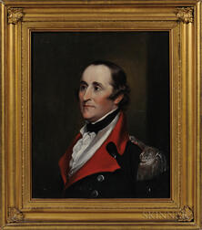 John Trumbull (New York, Connecticut, England, 1756-1843)      Portrait of Brigadier General Ebenezer Huntington