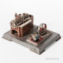 Tin Steam Engine and Boiler