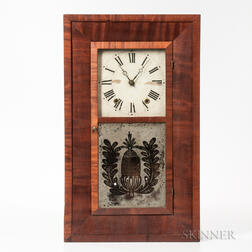 William S. Johnson Mahogany Ogee Shelf Clock