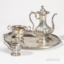 Four-piece Black, Starr & Frost Sterling Silver Coffee Service