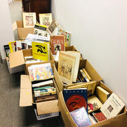 Twelve Boxes of Books on Mostly 20th Century American and European Art Including Modern and Outsider Subjects