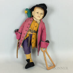 Chad Valley Hygienic Toys Felt Long John Silver Doll