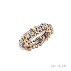 "Platinum, 18kt Gold, and Diamond ""Sixteen Stone"" Ring, Schlumberger for Tiffany & Co."