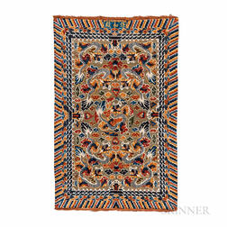 Silk and Metal Thread Imperial Carpet