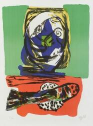 Karel Appel (Dutch/American, b. 1921)  Lot of Three Untitled Prints: Small Composition, Figure and Fish
