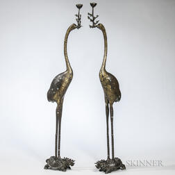 Pair of Brass Candle Holders