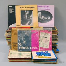 Collection of Mostly Mid to Late 20th Century New Orleans Jazz 78s, EPs, and LP   Records