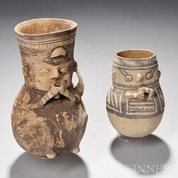 Two Chancay Figural Urns