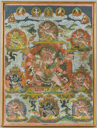 Thangka Depicting Six-armed Mahakala