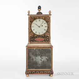 "Aaron Willard Federal Painted and Stencil-decorated ""Bride's"" Shelf Clock"