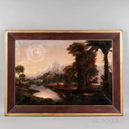 Manner of Erastus Salisbury Field (Massachusetts, 1805-1900)      Fantastic Allegorical Landscape
