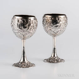 Two S. Kirk & Son .917 Silver Goblets