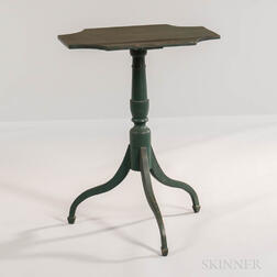 Green-painted Birch Candlestand