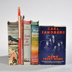 Sandburg, Carl (1878-1967) Signed Copies in Dust Jackets, Six Volumes.