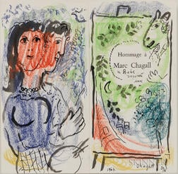 Marc Chagall (Russian/French, 1887-1985)      Hommage à Marc Chagall pour Vava