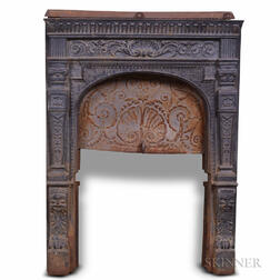 Cast Iron Parlor Stove Surround