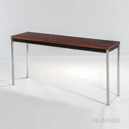 Rosewood Console with Chrome Legs