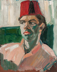 Continental School, 20th Century      Man in a Fez