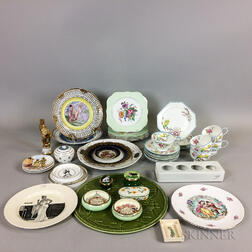 Approximately Forty-six Pieces of Mostly English Ceramic Tableware