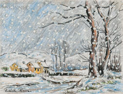 Paul-Émile Pissarro (French, 1884-1972)      Country Snowfall