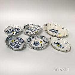 Group of Meissen Blue and White Porcelain Tableware.     Estimate $300-500