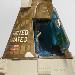 Gemini Spacecraft Model Signed by Wally Schirra, Mid-1960s.