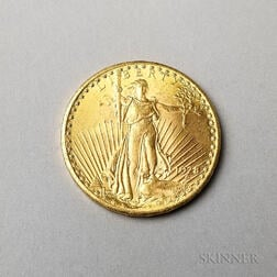 1928 $20 St. Gaudens Double Eagle Gold Coin.     Estimate $1,000-1,200