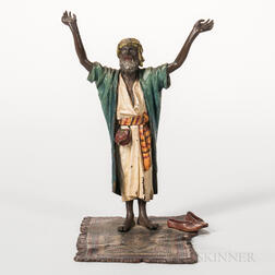 Franz Bergman Cold-painted Bronze Figure of an Arab Praying