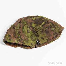 German WWII Oakleaf Pattern Reversible Helmet Cover