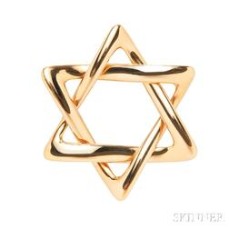 18kt Gold Star of David Pendant, Elsa Peretti, Tiffany & Co.