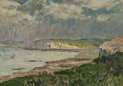 Émile René Menard (French, 1861/62-1930)      Passing Shower, Varengeville-sur-Mer