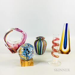 Five Art Glass Sculptures
