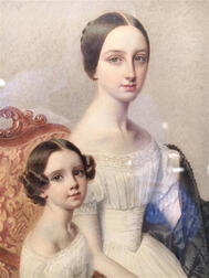 Continental School, 19th Century      Portrait of Cornelia and Nathalie E. Ray