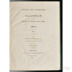 Tod, James (1782-1835) Annals and Antiquities of Rajasthan, or the Central and Western Rajpoot States of India.