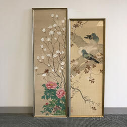 Two Bird-and-flower Paintings