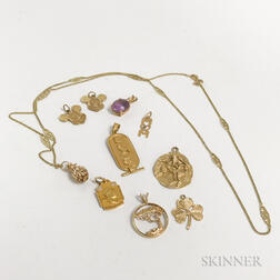 Group of 14kt Gold Charms