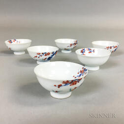 Set of Six Miniature Kakiemon-style Wine Cups