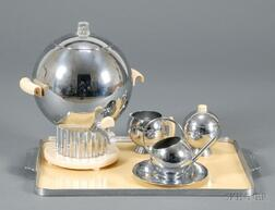 Six Chase Chrome Serving Items and an Undertray