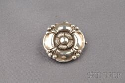.830 Silver Flower Brooch, Georg Jensen