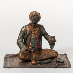 Austrian Cold-painted Bronze Figure of a Trinket Seller on a Carpet