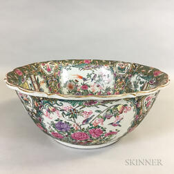 Large Rose Medallion Punch Bowl
