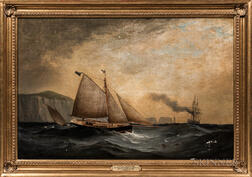 Attributed to George Gregory (British, 1849-1938)      A Cutter Yacht of the Royal Cinque Ports Yacht Club
