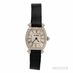 Lady's 18kt White Gold and Diamond Wristwatch, Charles Oudin, Retailed by Fred Leighton