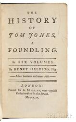 Fielding, Henry (1707-1754) The History of Tom Jones, a Foundling.