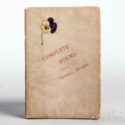 Dickens, Charles (1812-1870) Complete Poems.