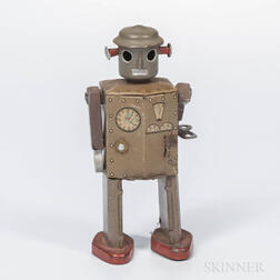 Lithographed Tin Mechanical Robot Toy