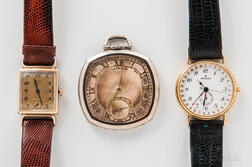 Two Wristwatches and a Pocket Watch