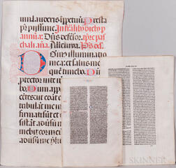 Parchment and Paper Leaves and Documents, Fifteen Large-format Examples.